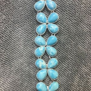 Jewelry - Larimar handmade bracelet 925 NEW adjustable